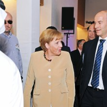 Frank Wouters and Angela Merkel