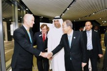 Frank with UN Secretary general Ban Ki Moon and Dr. Sultan Al Jaber 2012